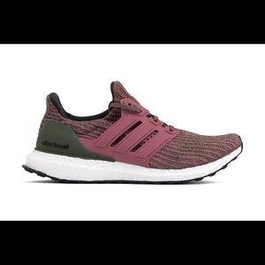 Adidas Ultra Boost Army/Pink Sneakers Worn 2x
